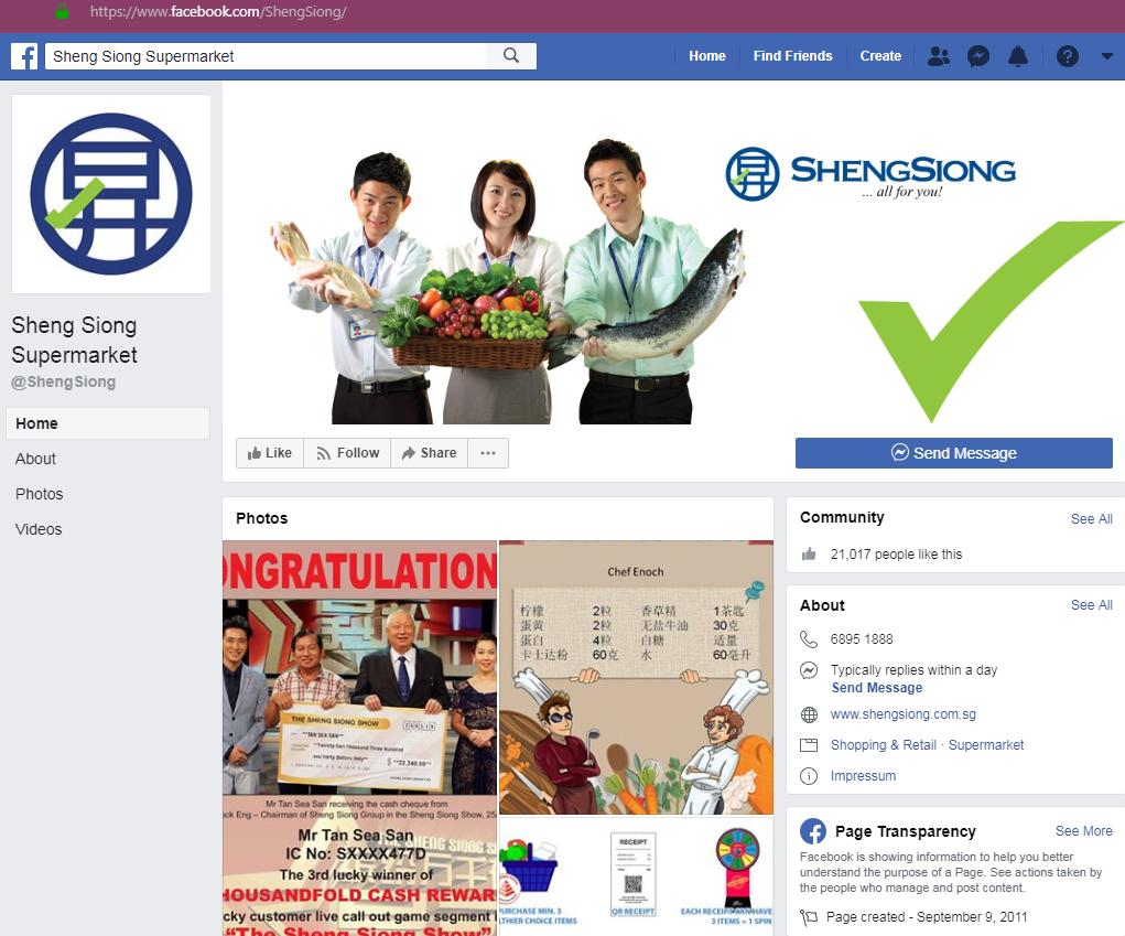 Beware of Fake Sheng Siong Supermarket Ads on Facebook