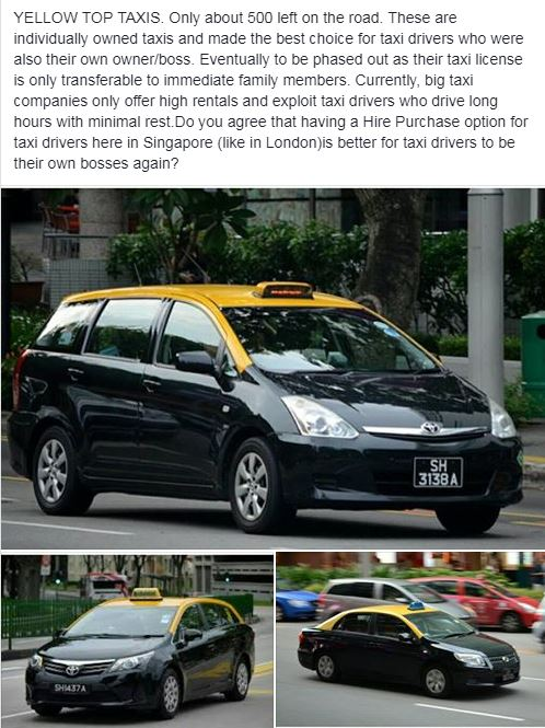 Mar 19: The end of privately-owned Yellow Top taxi in Singapore?