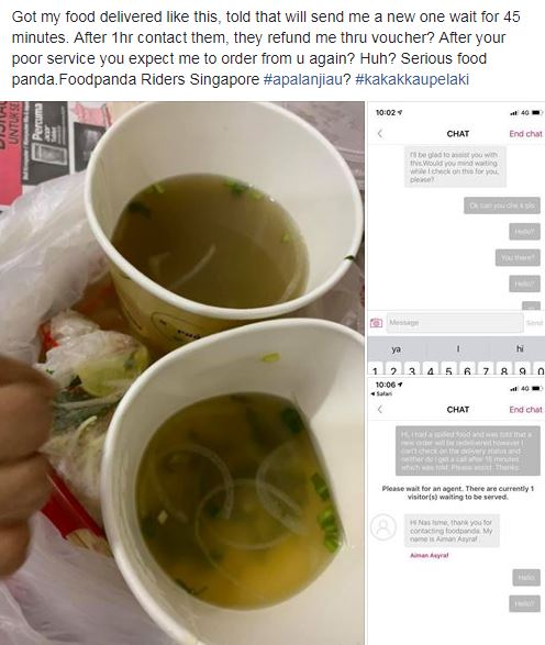 Mar 19: Complained against Panda Food Delivery