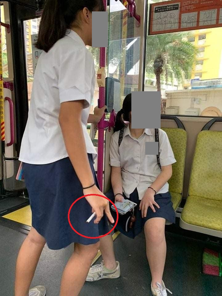 Oct 19: Student Smoking On Public Transport